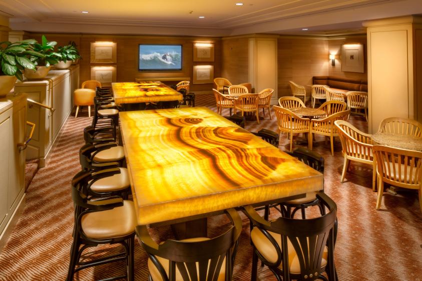 LAX Airport Hilton dining room