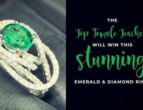 Win this Emerald & Diamond Ring for being the Top Female Teacher!